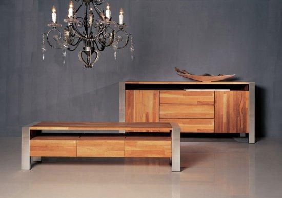 meuble tv bois alu spcialiste de vos meubles en teck quimper et dans le - Meuble Tv Bois Alu